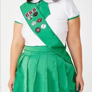 Dollskill plus size Girl Scout costume
